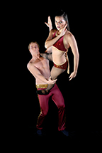 Male and Female Performer posing